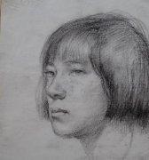 济南画院国家一级美术师许小峰 人物速写二幅