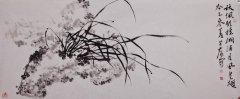 国画,鹿芸薇,横幅,写意花卉兰花